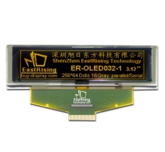 Serial 3.2 inch Graphic OLED Display 256x64 Module,Yellow on Black ER-OLED032-1Y